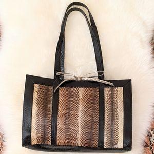 Genuine Snakeskin Handbag by Oui+Maud